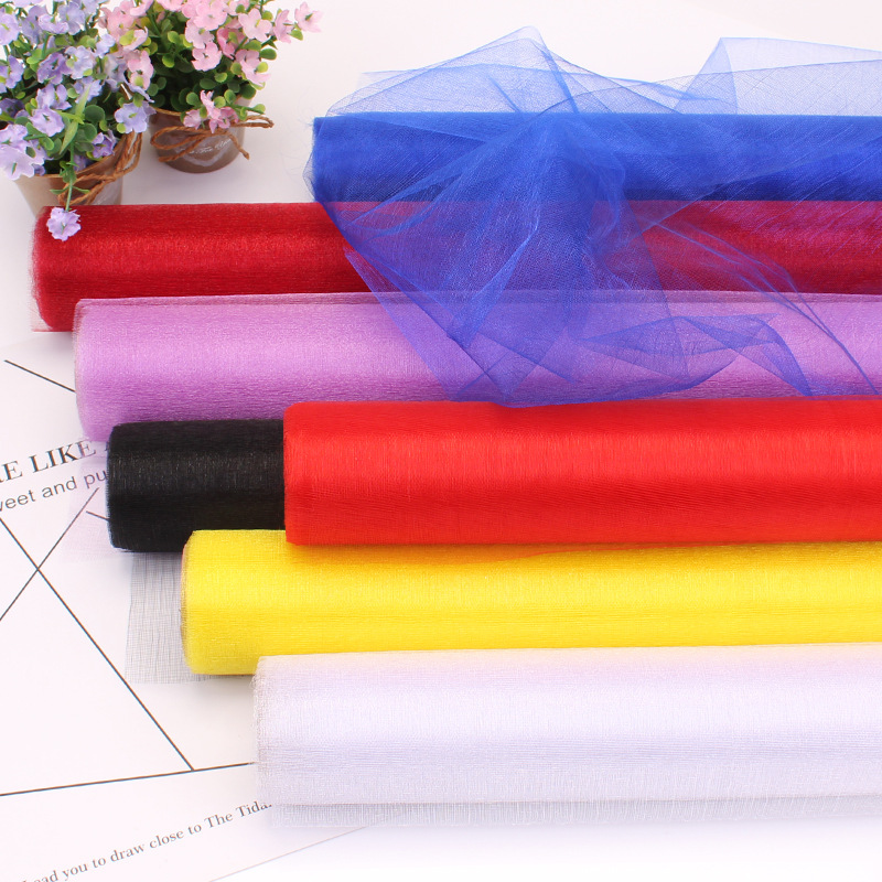 10m / 5m X 48cm Sheer Crystal Organza Tulle Roll Fabric For Diy Wedding Party Decoration Organza Baby Shower Decoration Mariage