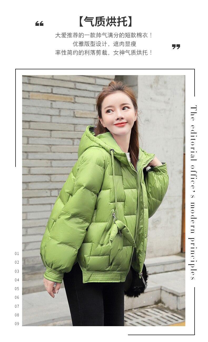 Зима, стиль, корейский стиль, маленькая хлопковая стеганая одежда для детей, женское короткое свободное модное хлопковое пальто с капюшоном, модное пальто