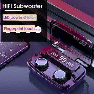 Беспроводные наушники Bluetooth наушники Hifi 8D стерео наушники сенсорная гарнитура с отпечатком пальца 3300 мАч зарядная коробка с микрофоном