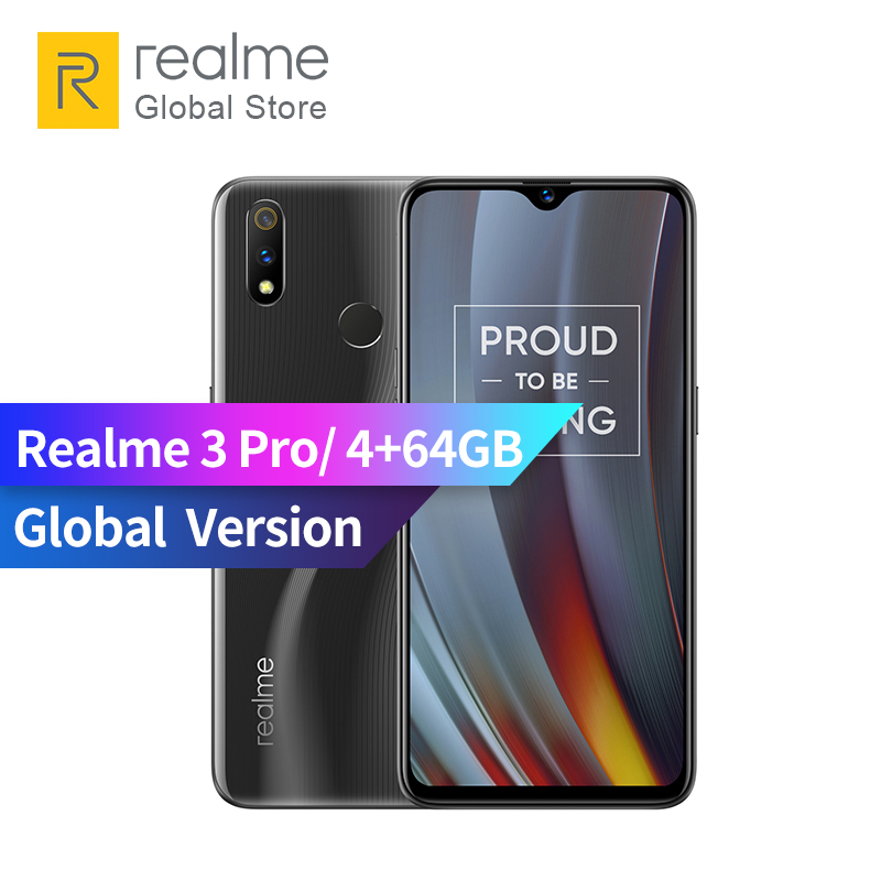 Global Version OPPO Realme 3 Pro 4GB RAM 64GB ROM 6.3 Inch Smart Moblie Phone 4045mAh 16+5MP Dual Camera VOOC Fast Charge 3.0