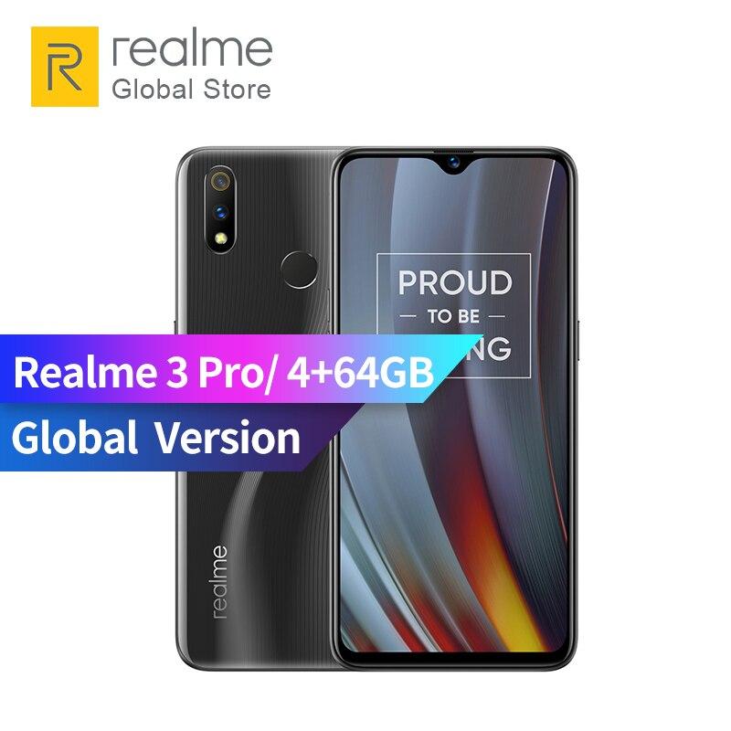 Original Global Version OPPO realme 3 pro 4GB RAM 64GB ROM Smart Moblie Phone 4045mAh 16+5MP Dual Camera VOOC Flash Charge 3.0