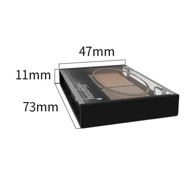 Girls Women Eyeshadow Cake Makeup Tools 2 Color Waterproof Eyebrow Powder Eye Shadow Eye Brow Palette + Brush Eyebrow Enhancer 5