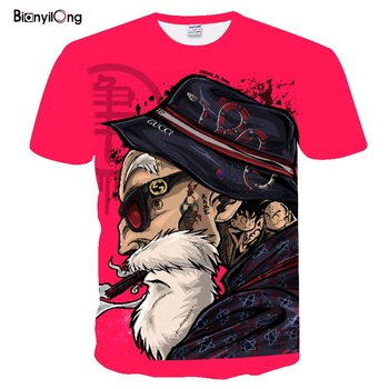 2019 new Summer t shirt men Anime Print Dragon Ball 3D T-Shirt Tees Master Men T shirt Streetwear men t shirt funny tops&tees