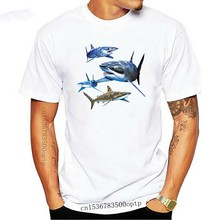 2020 Fashion Cotton Tee Shirt Fashion Sharks - Swimmings Marine T-Shirt