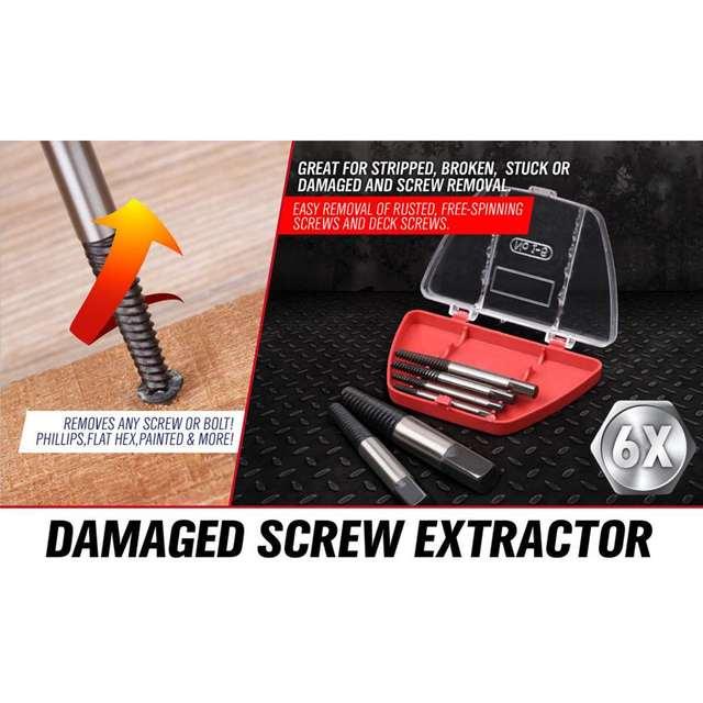6 pièces/ensemble acier endommagé vis extracteur foret cassé vitesse Out Guide ensemble cassé boulon décapant facile à sortir outil accessoires
