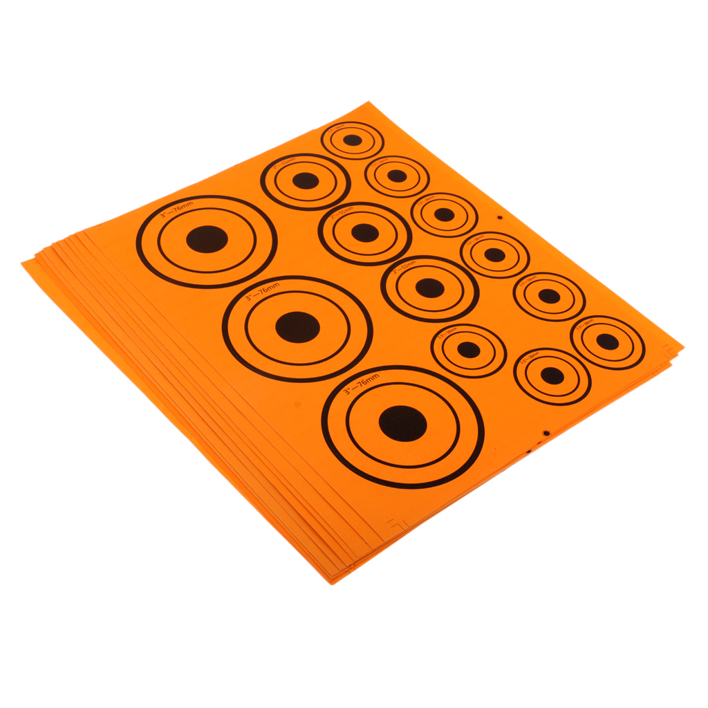 10 Sheet Fluorescence Thick Paper Shooting Target Stickers 1.5