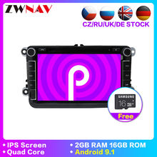 2 Din Multimedia Player Android 9.1 Auto Rádio Do Carro Para Skoda/Seat/Volkswagen/VW/Passat b7 /POLO/GOLF 5 6 DVD GPS gravador de áudio(China)