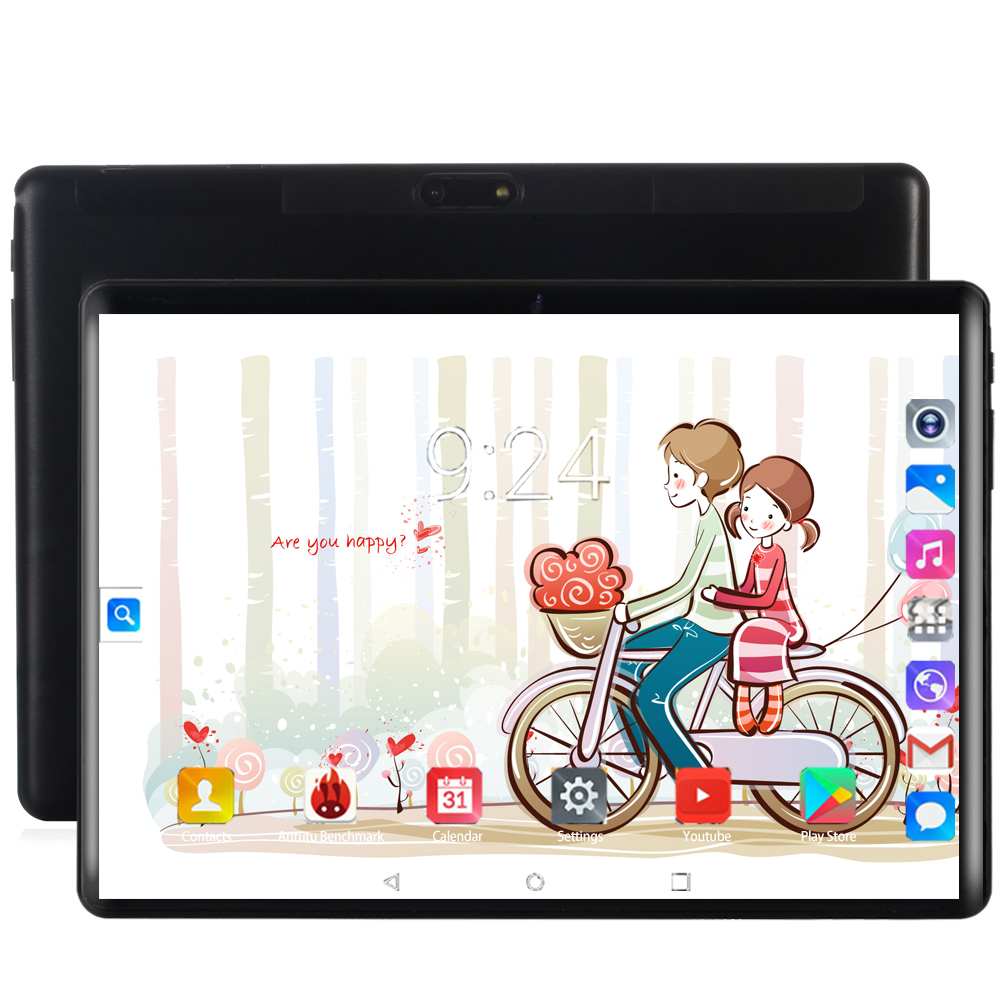 10.1 Inch 4G Phone Call Tablets Android 8.0 Octa Core 6G+128G Tablet Pc  Dual SIM Card Laptop WiFi GPS Bluetooth FM Tablet