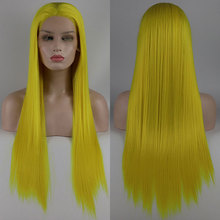 Wig Lace-Front Parting Hair-Free Synthetic-Hair Heat-Resistant-Fiber Glueless Bombshell