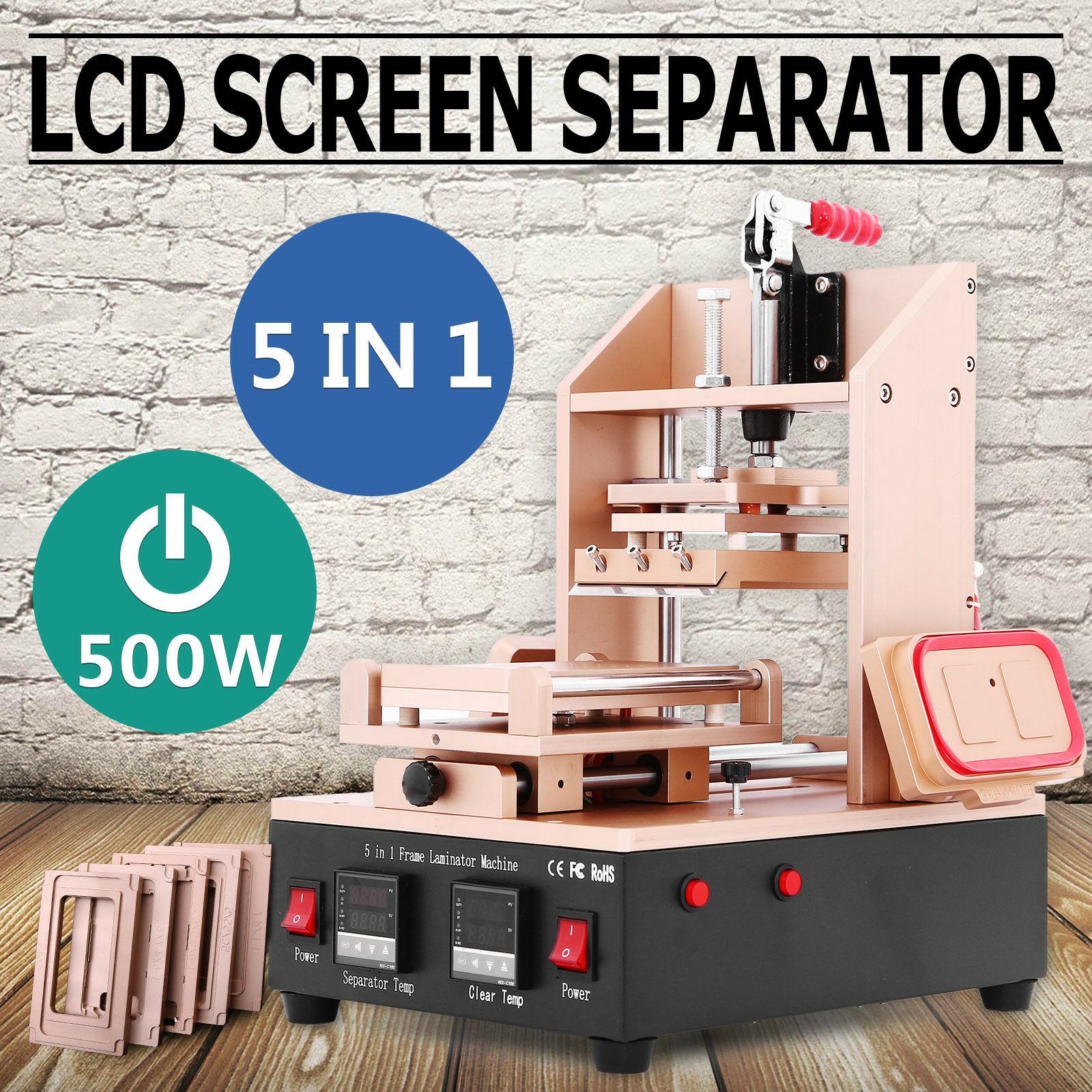 LCD Separator 5-in-1 LCD Screen Repair Machine Separator Front Glass LCD Separator Vacuum Screen Separator Removal Machine