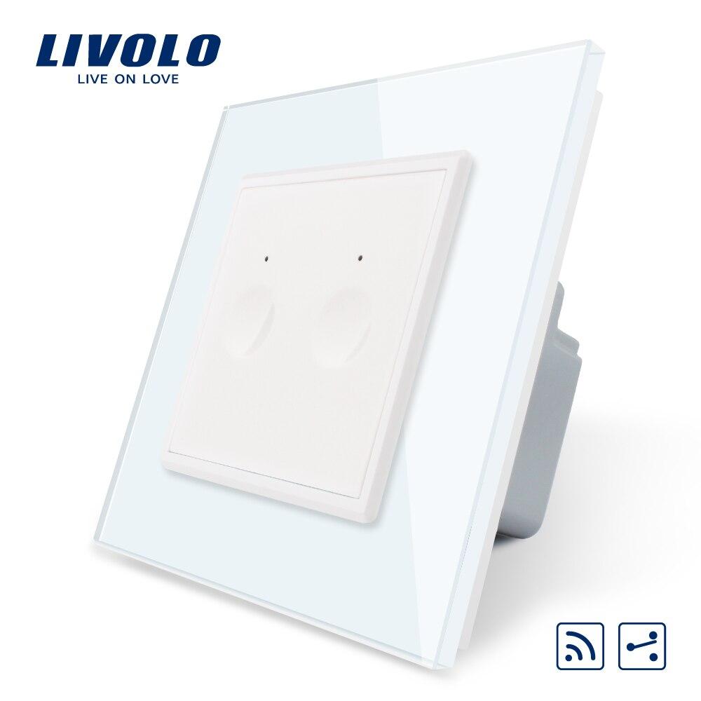 Image 3 - Nuevo Interruptor táctil Livolo UE estándar SeriesWall, 1 Gang 1Way Touch, AC 220 250, 7 opciones de colores, llave de plástico, sin logotipoConmutadores   -