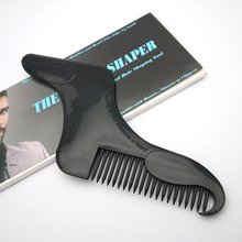 цена на Hair Comb Beard Shape Comb Black Cosmetic Make Up Fashion For men