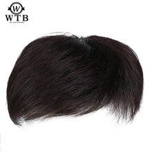 を WTB 男性かつら高温シルク合成毛素材髪メイドトッパーかつらトップピース合成 Comingbuy