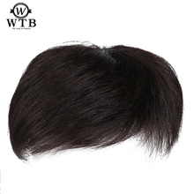WTB Man Toupee With high temperature silk synthesis Hair Material Hair Hand made Topper Hairpiece Top Piece Synthetic Comingbuy