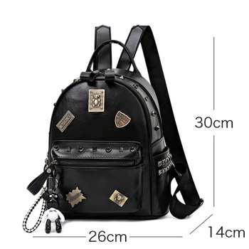 cluci women s backpacks real genuine leather fashion black pink beige grey purple alligator pattern casual women s daypacks bags Rosetic Punk Designer PU Leather Backpacks Women School Bags 2020 Rivet Gothic Black Pink White Teenager Casual Backpacks Travel