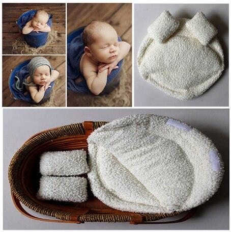2019 novo recem nascido fotografia aderecos bebe posando travesseiro recem nascido cesta aderecos estudio fotografia infantil
