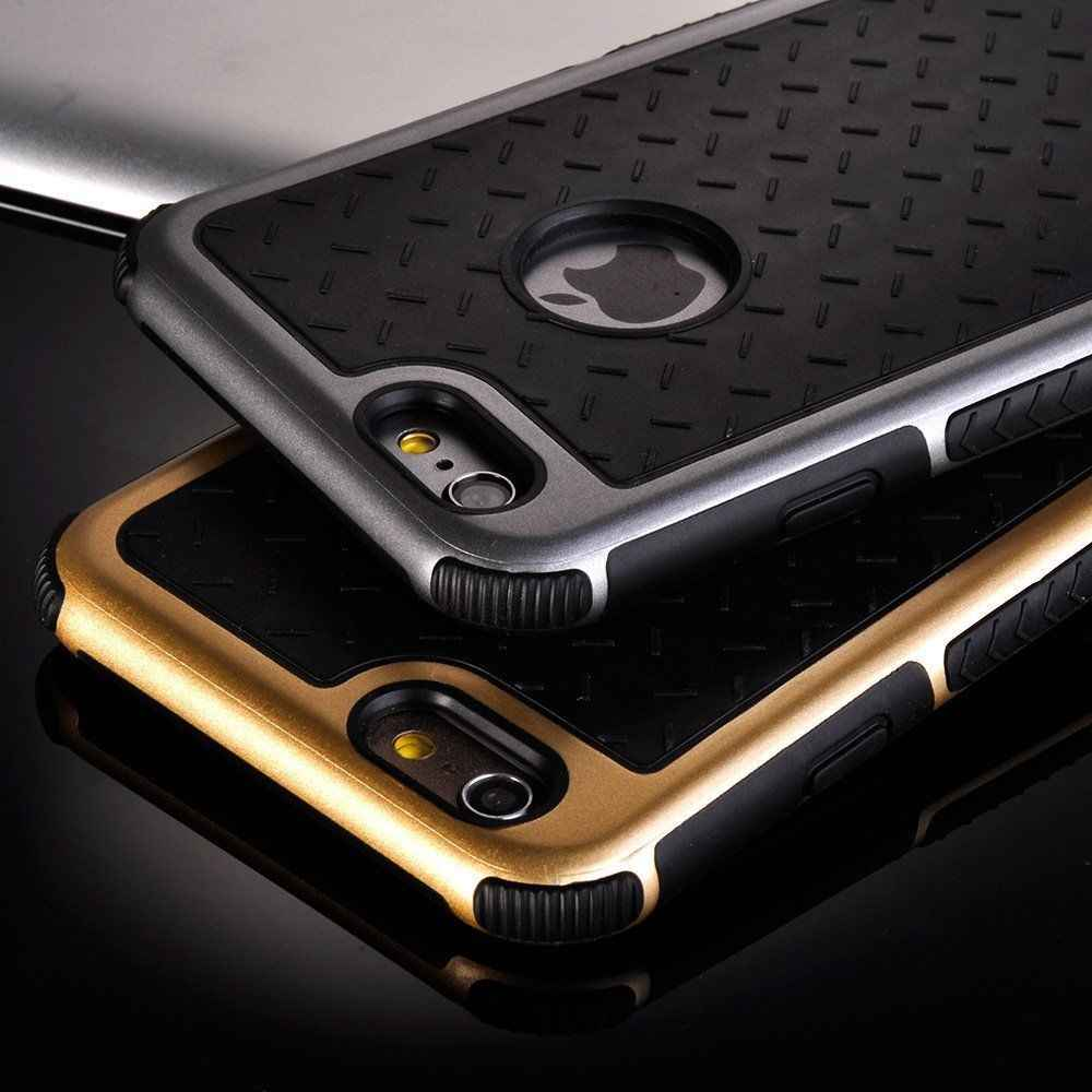 Shockproof Rubber Hybrid Case for IPhone 7 8 6 6S Plus 5 5S SE Fashion Hard Cover Full Protector Slim Luxury Man Business Thin