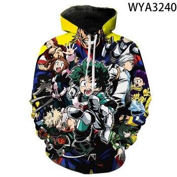 2020 New My Hero Academia 3D Hoodies Men Women Children Long Sleeve Sweatshirts Boku No Hero Academia Funny Anime Cool Pullover