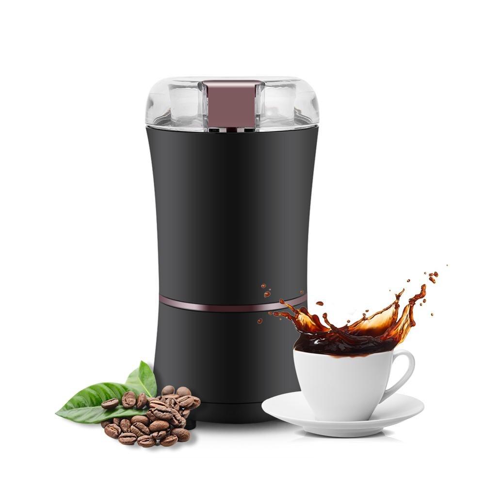 Электрическая мини-кофемолка 400 Вт, мощная кухонная мельница для перемалывания соли, перца, бобов, специй, орехов, семян, кофейных зерен, трав