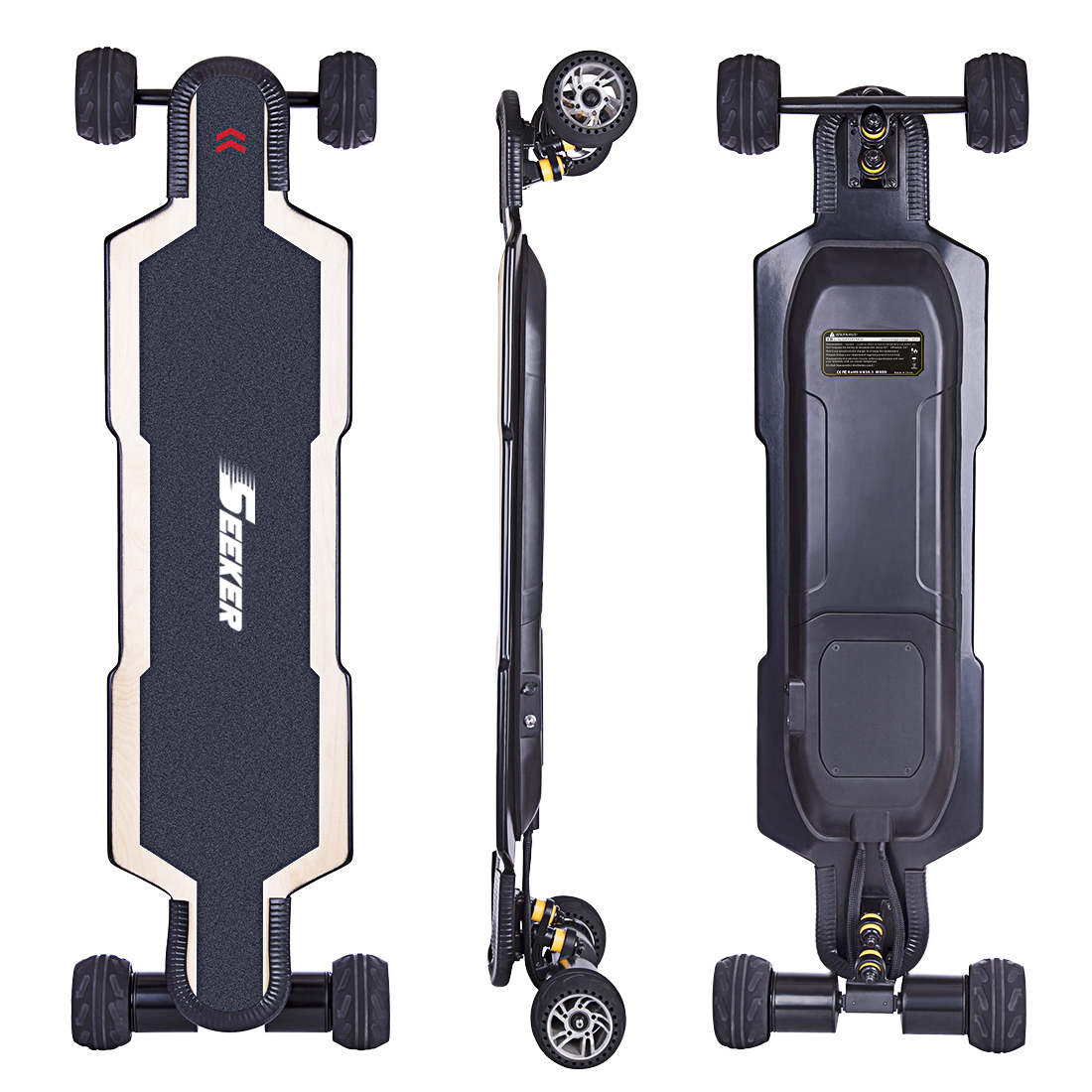 Hot SEEKERS BRT-02 4-Wheel Electric Skateboard For Children Kids School Play Game Education Outdoor Toy Birthday Gift - AU Plug