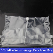 Tanque de almacenamiento de agua de ósmosis inversa, 3,2 galones, bolsa interior especial, PE, transparente