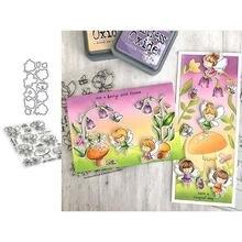 Металлические штампы и резиновые jc цветок Фея Гриб для скрапбукинга