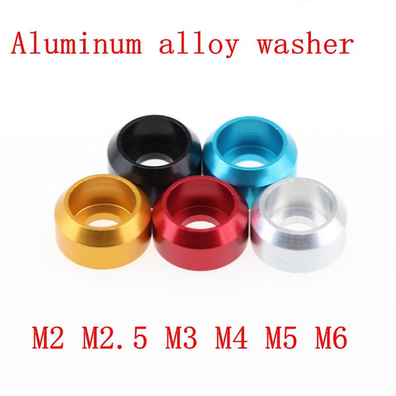 Aluminium Cup Washer M5 Gold