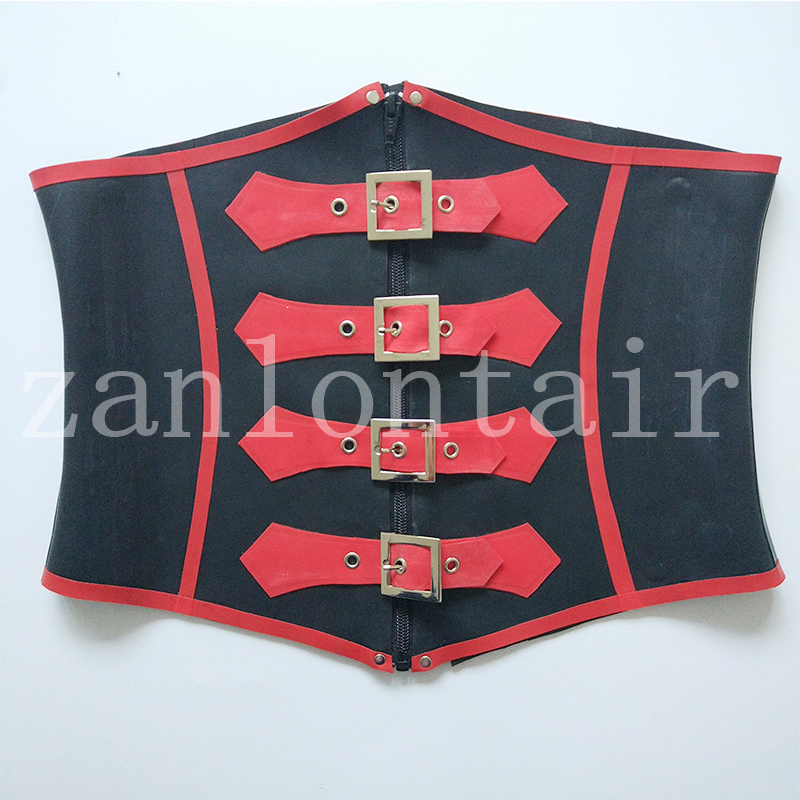 new arrival sexy <font><b>lingerie</b></font> handmade women cekc girl female front zipper & buckles corset slim tight back lacing <font><b>XS</b></font>-XXL free ship image