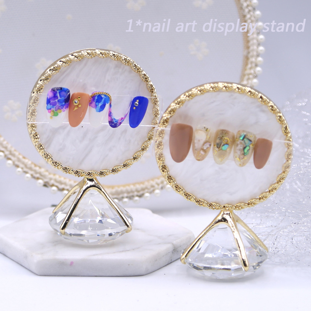 Multifunctional Nail Display Stand Nail Art Palette Shelf Exquisite Rhinestone Fals Nail Plate Showing Tool Photo Props Gifts