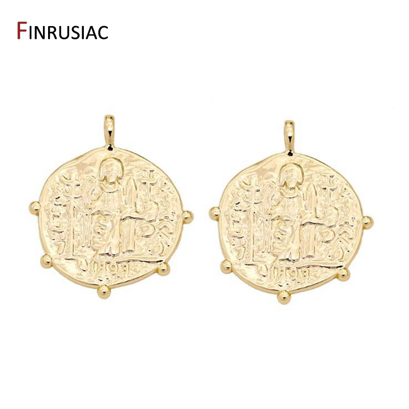 European Retro Religious Totem Pendant Coin Pendants DIY Chic Necklace Jewelry Making Accessories