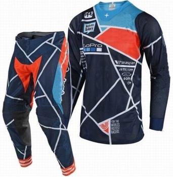 New Arrival Motocross garnitur dla Off-Road MTB ATV MX koszulka wyścigowa i spodnie Combo zabrudzenia motocyklowe rower sprzęt jeździecki zestaw tanie i dobre opinie TLDGPAIR Kombinacje Motocross Combos Mężczyźni Poliester i bawełna