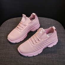 YeddaMavis Shoes Women Sneakers Black Sock New Korean Wild Running Lace Up Womens Woman Trainers