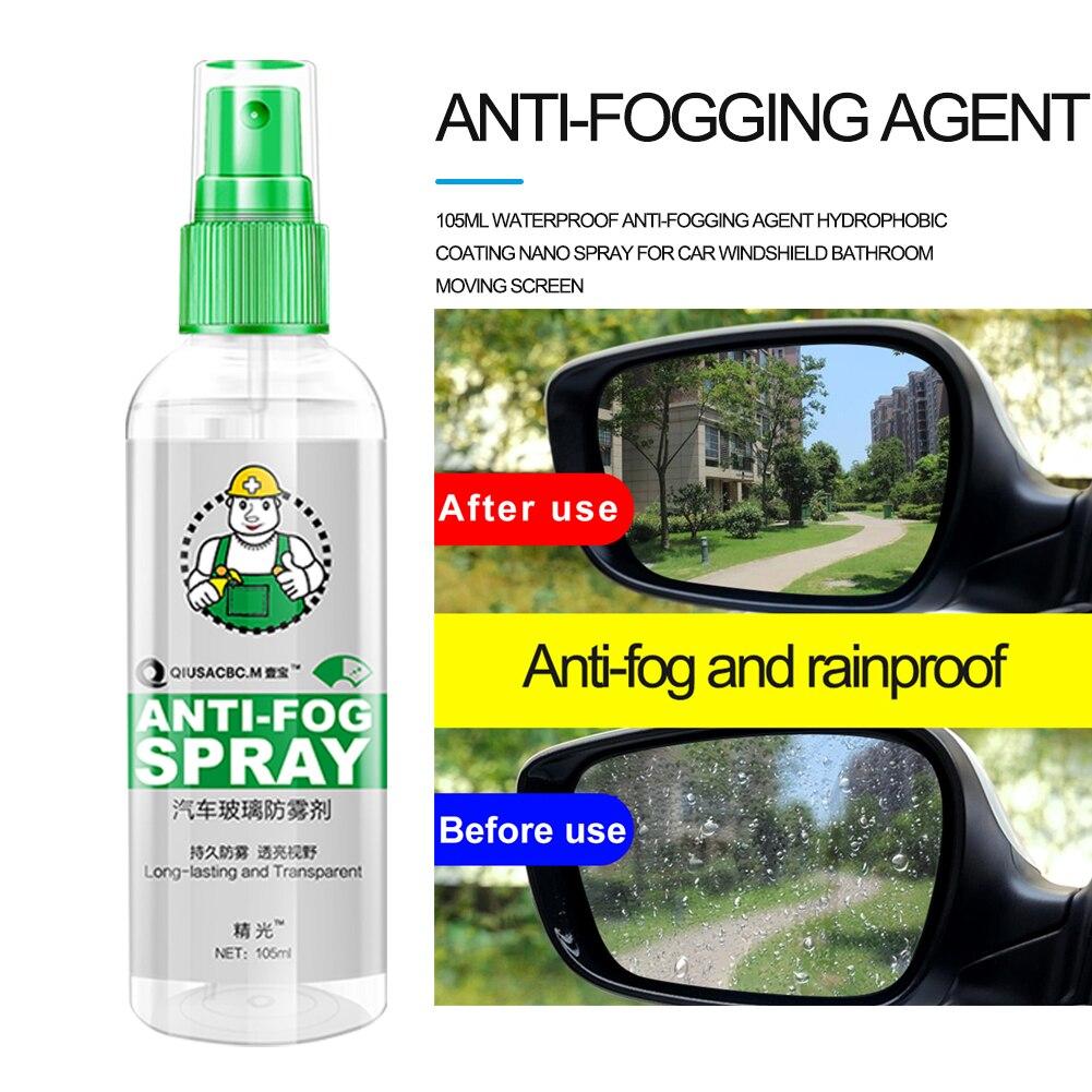 105Ml Waterproof Anti-Fogging Agent Hydrophobic Coating Nano Spray For Car Windshield Bathroom Moving Screen