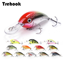 TREHOOK 4cm 5g Topwater Mini Crankbaits Fishing Lure Artificial Hard Bait Trolling Wobblers Fishing Tackle Lures Bass Swimbait
