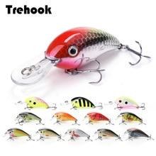 TREHOOK 4cm 5g Topwater Mini Crankbaits Fishing Lure sztuczna twarda przynęta Trolling Wobblers wędkowanie przynęty wędkarskie Bass Swimbait