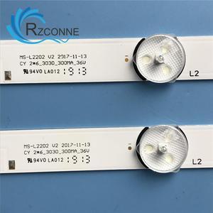 Image 5 - Светодиодная лента для подсветки, 580 мм, 6 ламп для ТВ, для ТВ, для E348124, для L2202, L1074, 32LES78T2W, светодиодный