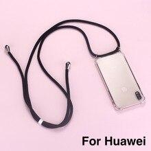 Ремешок шнур цепь лента для телефона шнурок для ожерелья Чехол для мобильного телефона для переноски для HUAWEI P Nova mate P Smart 10 20 30 3 4 5