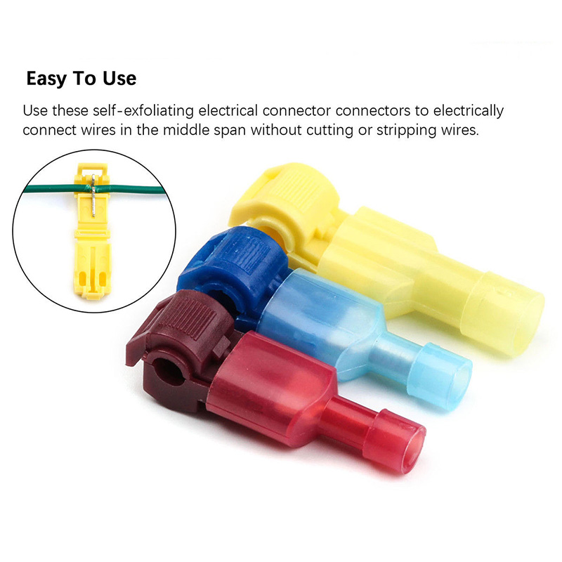 30pcs T-taps//male Insulated Wire Terminal Quickly Splice Connectors Combo Set