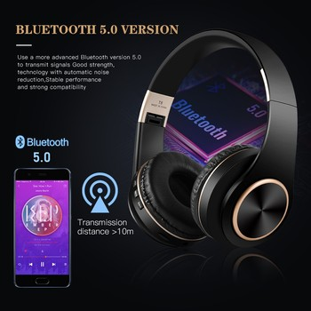 T8 HIFI stereo  bluetooth headphone music headset  2