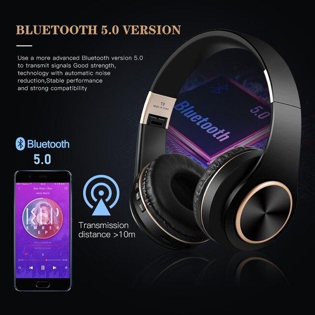 T8 HIFI stereo  bluetooth headphone music headset  2