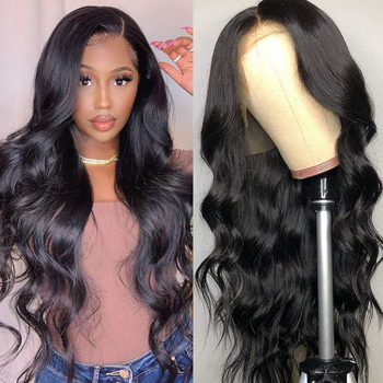 Alishes Body Wave Frontal Wig for women 13x4 Lace Front Human Hair Wigs 150% density Pre Plucked Natural Brazilian