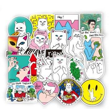50 шт./партия забавная наклейка Ripndipe креативная индивидуальная Водонепроницаемая наклейка для ноутбука Rip N Dip для скейтборд на палец автомобильный Стайлинг
