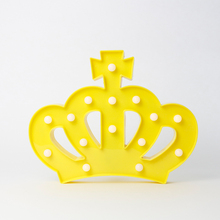Crown Christmas decoration design marquee lamp led holiday light