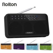 Rolton E500 Drahtlose Bluetooth Lautsprecher 6W HiFi Stereo Musik Player Portable Digital FM Radio Taschenlampe Mic Hände-freies rekord TF