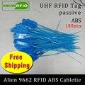 RFID метка UHF ABS кабельные стяжки Alien 9662 915m 868m 860-960MHZ Higgs3 EPC 6C 100 шт Бесплатная доставка Смарт длинный диапазон пассивные RFID метки
