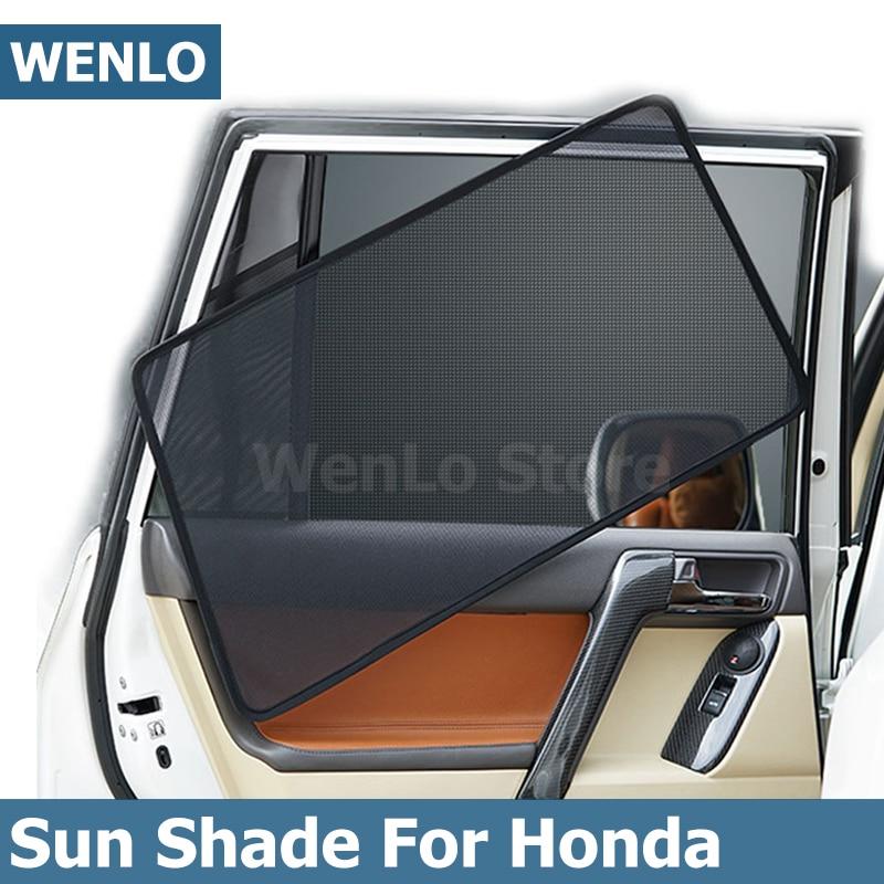 4pcs Car SUV Door Front Rear Side Window Covers Shades UV Sun Visor Screen Mesh