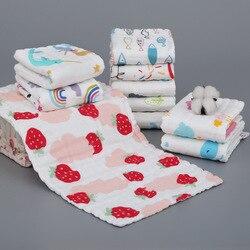 Musselina algodão bebê 6 camada toalha lenço colorido miúdo limpar pano bebê recém-nascido rosto toalha babadores de alimentação towelf banho para crianças