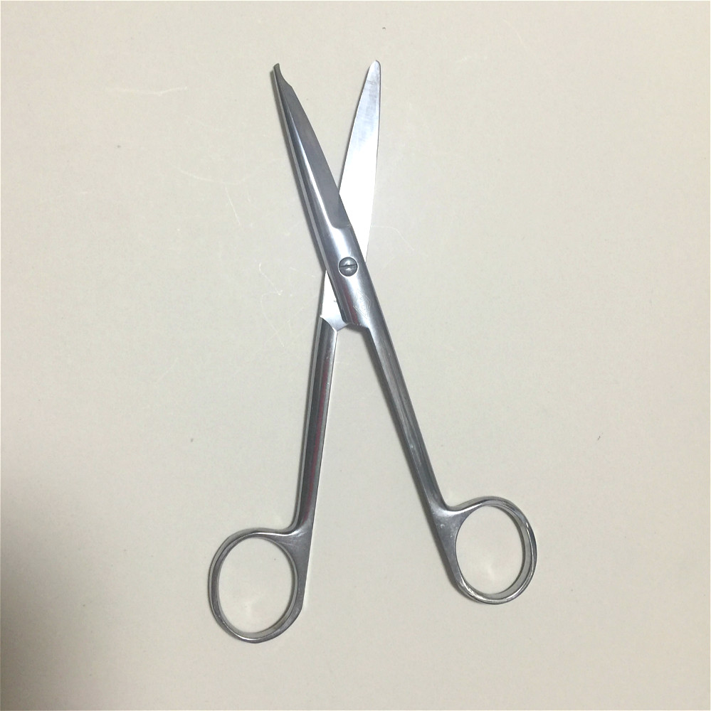 Stainless Steel Remove Suture Scissors Surgery Wire Cutter Medical Trimming Crescent Notch Scissors 14cm / 16cm