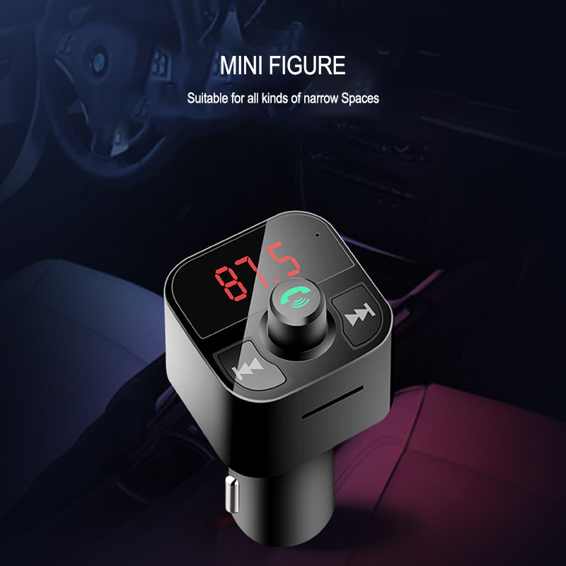 B5 Car MP3 Player FM Transmitter Modulator Wireless Audio Receiver Car Kit Handsfree Dual USB Car Charger Support TF Card/U Disk