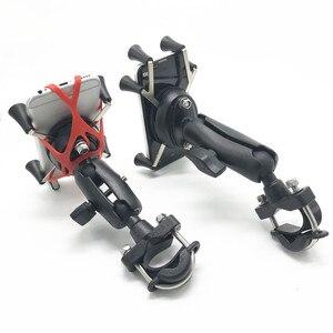 Image 2 - 汎用品質プラスチックオートバイハンドルバーレールマウントx携帯電話スマートフォンホルダーiphone